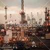 1) OIL SANDS SOLUTIONS<br /> 2) ABOUT METAPOWER, OIL REFINERY YARD<br /> oil-refinery-yard- sepia.jpg