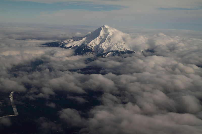 Mount Hood out the window of Greg's plane. Headed for Philly after the shoot.