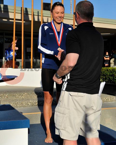 18 May 2008:  Madison White during the XLI Santa Clara International Invitational women's 200 meter backstroke finals at the Santa Clara Swim Club in Santa Clara, CA.  White finished third with a time of 2:14.40.