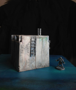 40K Terrain  (painted, altered plastic electrical box)