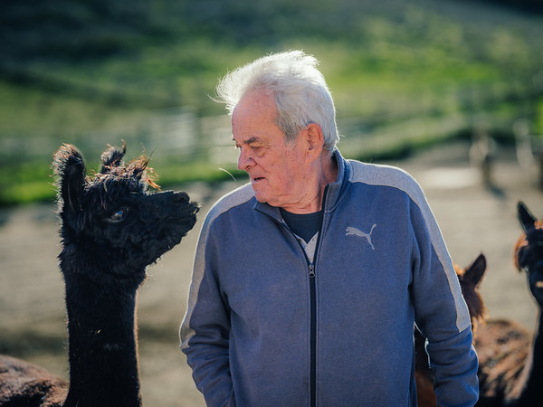Nat and Jan Sherrill at their Alpaca Farm in Templeton, CA.