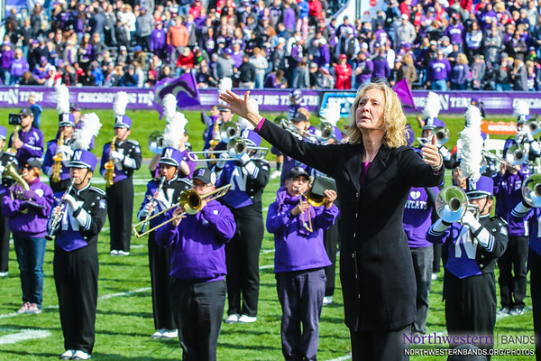 Director of Bands and NUMBALUM Dr. Mallory Thompson Conducts the University Hymn