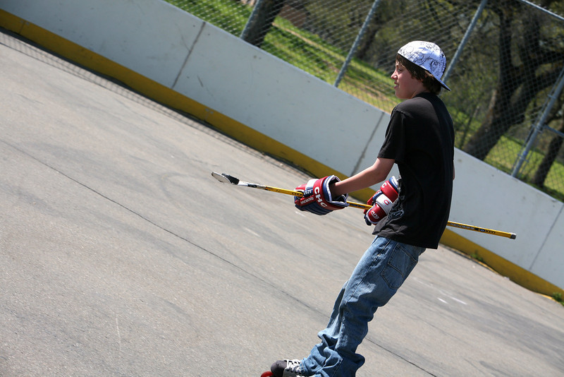 This is cool 'cause he has the puck on his stick.