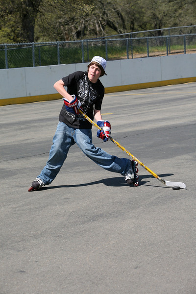 Good shot, shows good form on his part.