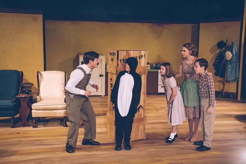 """Shaie Williams for AGN Media. Amarillo Little Theatre Academy presents """"Mr. Popper's Penguins. Photo taken at ALT Academy  in Amarillo TX on December 2, 2017."""