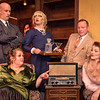 "Shaie Williams for AGN Media. Amarillo Little Theatre  presents ""The Musical Comedy Murders of 1940"". Back row left to right, Zeke Lewis (Kelly) Ryan Sustaita (Helsa), Dennis Humphrey (Ken), front row Liz Wilson (Elsa) and Kristen Loyd (Marjorie). Photo taken at ALT Mainstage in Amarillo TX on January 9, 2018."