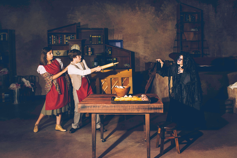 """Amarillo Little Theatre Academy presents """"Into the Woods"""".Socorra Carillo as the baker's wife Charles Turner the baker, Rebecca Hartman as  the witch. Taken in Amarillo, TX. on July 2, 2018. [Shaie Williams for Amarillo Globe News]"""