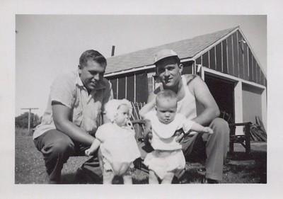 1954_July_Kenny holding Vickie Arnold holding Greg_0001