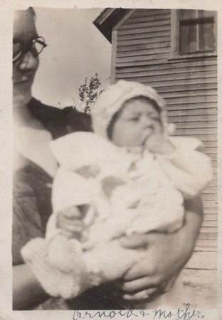 Arnold Nutter, 6 months, held by Mother Margaret Nutter age 24