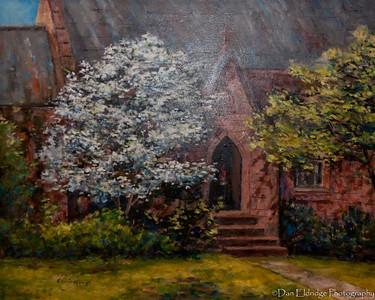 "Edwin Havas ""Seton Hall"" (1998) Oil - 24"" x 30"""