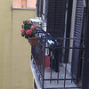 Our apartment balcony (drying laundry)