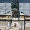 bronze pine cone, former Roman fountain, 2nd century