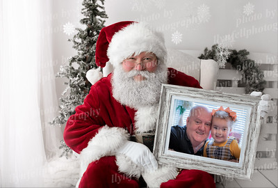 Santa with horizontal frame 23x15x300 Elise and Dylan