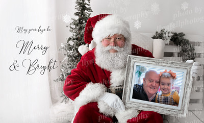 Santa with horizontal frame 26x15x300 Elise and Dylan with Message