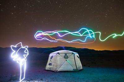 Shiftpod tents in the desert