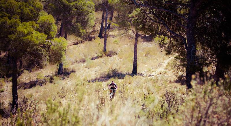 Enjoying the singletrack Mountain biking in the Sierra Espuna