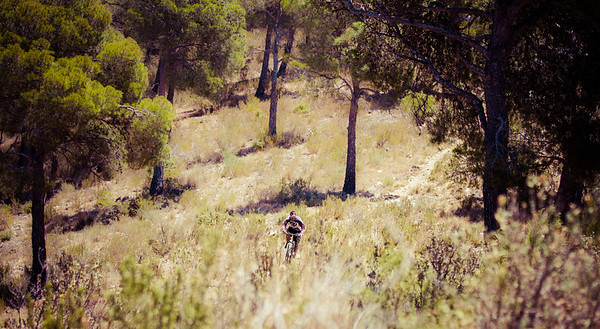 Enjoying the singletrack Mountain biking in the Sierra Espuna
