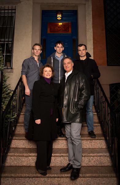 Front row (l-r): Angelina Fiordellisi, Robert Cuccioli<br /> Back row (l-r): Timothy Hassler, David McElwee, Stephen Plunkett