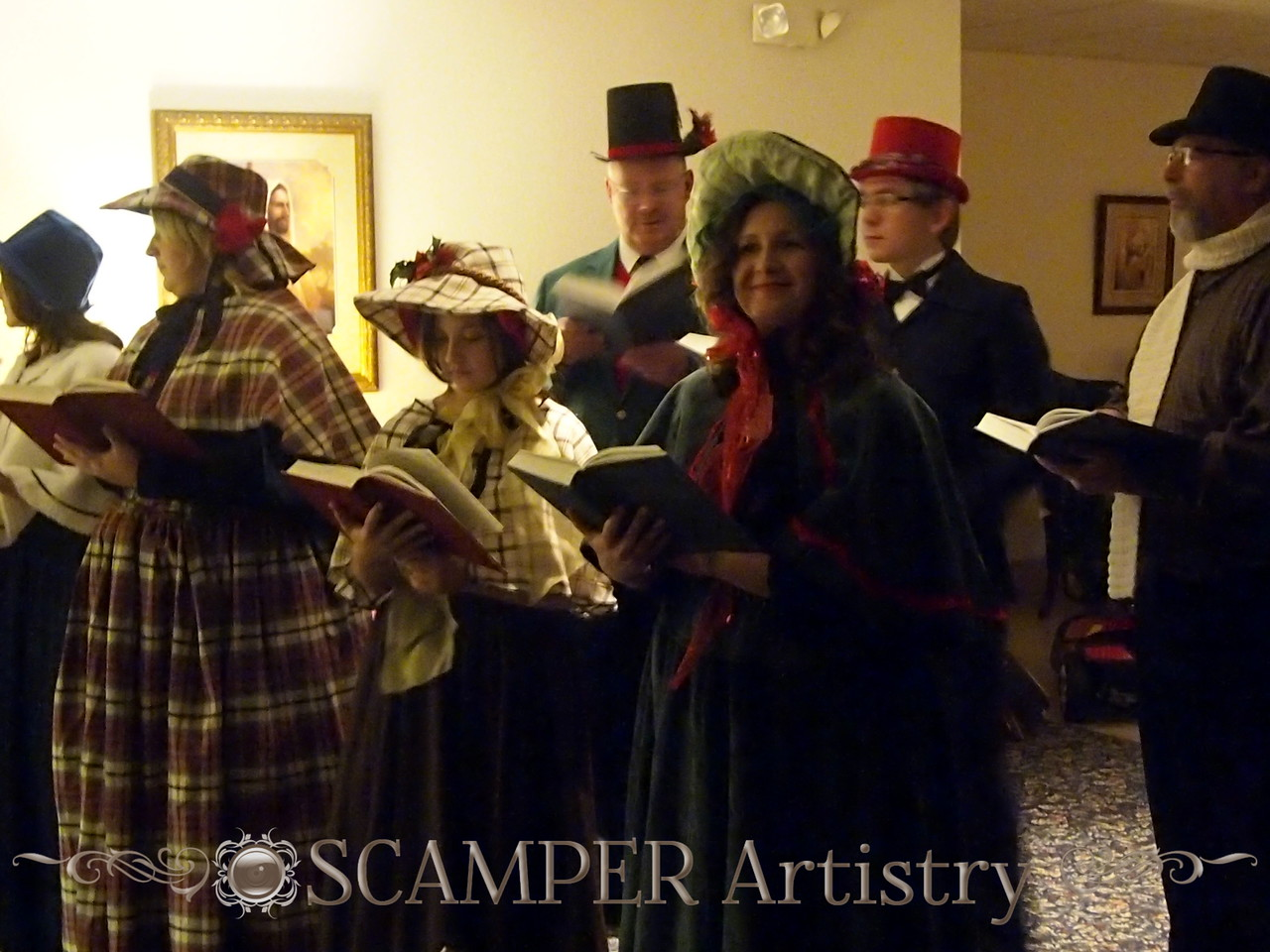 Christmas eve Victorian era carols with pump organ
