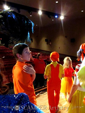 from rehearsal of Seussical the Musical
