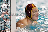 06 December 2008: USC Trojans goalkeeper Joel Dennerley (1) during the USC Trojans 14-9 win over the Navy Midshipmen in the NCAA men's water polo championship semi-final game at the Avery Aquatic Center in Stanford, CA.