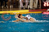 06 December 2008: Navy Midshipmen left-hander Johnny Meiners (12) defends USC Trojans driver Matt Sagehorn (6) during the Trojans 14-9 win over the Midshipmen in the NCAA men's water polo championship semi-final game at the Avery Aquatic Center in Stanford, CA.