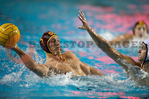 06 December 2008: USC Trojans driver Anthony Artukovich (5) looks to shoot during the Trojans 14-9 win over the Navy Midshipmen in the NCAA men's water polo championship semi-final game at the Avery Aquatic Center in Stanford, CA.