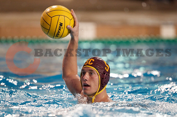 06 December 2008: USC Trojans driver Anthony Artukovich (5) during the Trojans 14-9 win over the Navy Midshipmen in the NCAA men's water polo championship semi-final game at the Avery Aquatic Center in Stanford, CA.