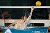 06 December 2008: USC Trojans goalkeeper Joel Dennerley (1) reaches for a goal during the Trojans 14-9 win over the Navy Midshipmen in the NCAA men's water polo championship semi-final game at the Avery Aquatic Center in Stanford, CA.