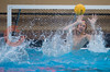07 December 2008: USC Trojans goalkeeper Joel Dennerley (1) blocks a shot during the Trojans's 7-5 win over the Cardinal in the NCAA men's water polo championship final game at the Avery Aquatic Center in Stanford, CA.