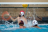 07 December 2008: Stanford Cardinal goalkeeper Jimmie Sandman (1) cannot stop a goal during the USC Trojans's 7-5 win over the Cardinal in the NCAA men's water polo championship final game at the Avery Aquatic Center in Stanford, CA.