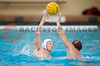 07 December 2008: Stanford Cardinal driver Sage Wright (11) passes over USC Trojans driver Peter Kurzeka (4) during the Trojans's 7-5 win over the Cardinal in the NCAA men's water polo championship final game at the Avery Aquatic Center in Stanford, CA.