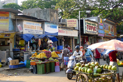 Fruit stands at the market