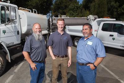 Water Talent shoot in Menlo Park, Ca. City Maintenance Yard.