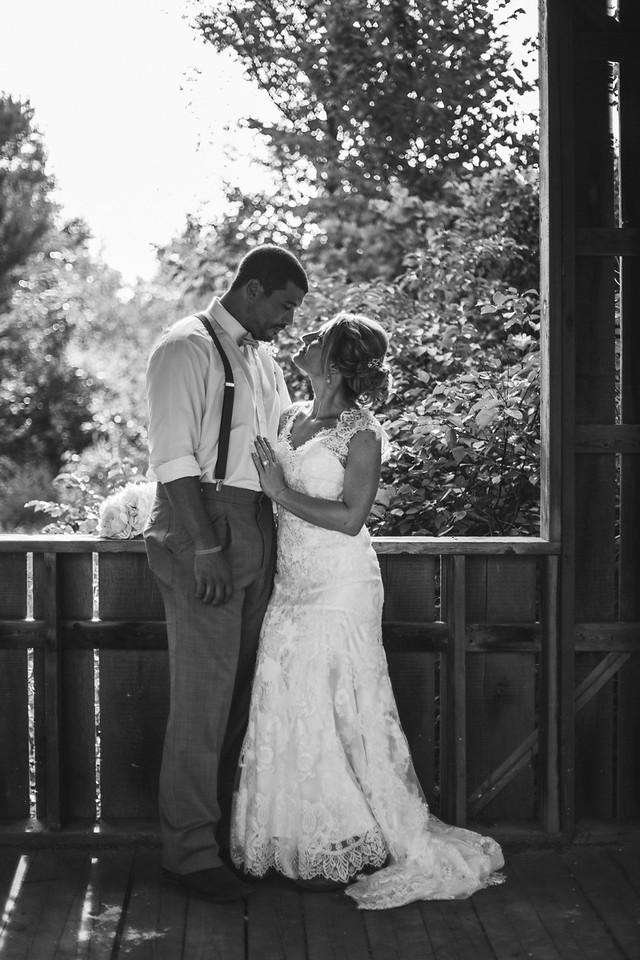 Wedding Photos by the Covered Bridge at Williams Tree Farm