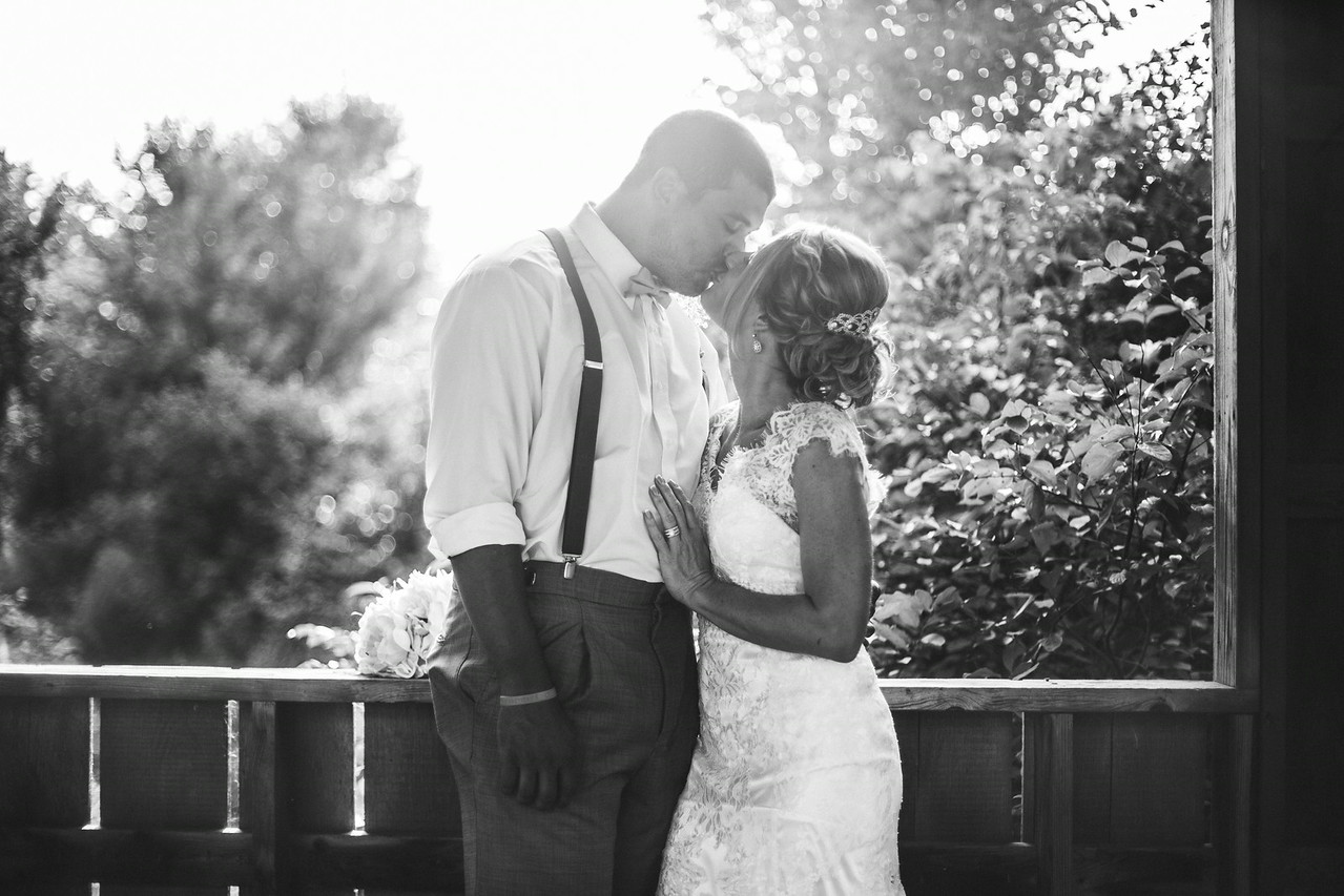Wedding Photos by the Covered Bridge at Williams Tree Farm