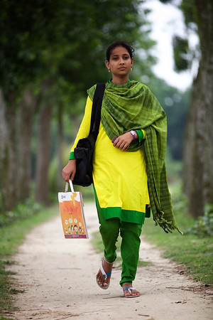 Name: Shahina Akhtar (18)HNPP Village: Ramnathpur, (Malek Master Bari) Post office: Ghoga, Muktagacha, Dis: Mymenshingh.  She started her education at BRAC school at the age of 4 years till class 5. Now she is giving final exam of HSC in Muktagacha Shahid Srity GOV High School. She was the member of KISHORI CLUB from class 9. She had a dream/passion to be a socila worker in village because she thoughts this is a very prestigeous work also she could help other people or socity with her passion.  She got offer from a (shewly apa)from BRAC to do he dream job as a Volunteer.  Now she is doing her Volunteery job as HNPP in her village and also nera other villages.  Photo: B.A. sujaN / Map/BRAC Dhaka, Bangladesh.