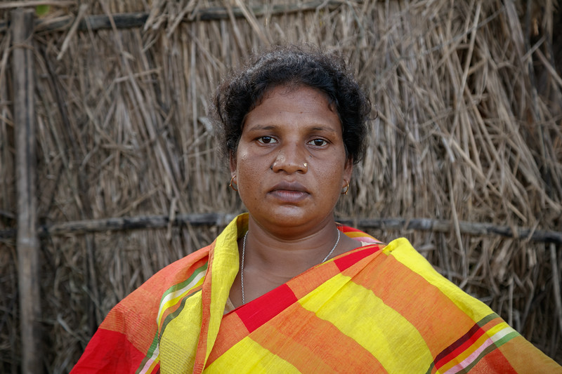 Presela Murmu (40). Village-Matherpur (bagda farm), Thana- Gobindogonj, District- Dinajpur.  Photo: b.a. sujaN / Map / DANIDA