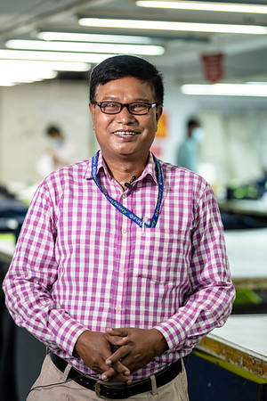 "BD-RMG-Manager-FUN Factory-0001-0002  ""When the union leaders provide us with good suggestions we definitely consider them and listen. And to ensure that our women workers can benefit more from the factory, we feel it is good for us too,"" says Susanta Sarker during his interview inside the factory. Susanta Sarker is working as the Human Resource Administrator Officer in a garments factory.   E.P.Z. Road, Ashulia, Dhaka-1349. Bangladesh.  Photo Credit: b.a.sujaN / Plan International / Map Photo Agency, Dhaka, Bangladesh."