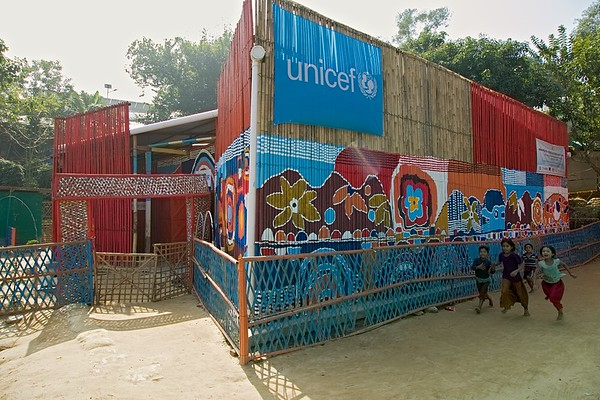 UNICEF-RR-MPC-0001-0009  Multi-Purpose Child and Adolescent Center Funded by the people of JAPAN; Supported by UNICEF; Implemented by CODEC Camp 1E, Block D, Lambashia Road, Rajapalong, Ukhia, Cox's Bazar, Bangladesh. Photo: b.a. sujaN / UNICEF / Map