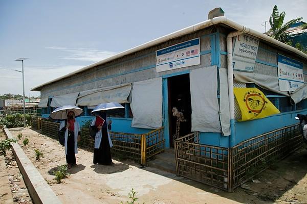 UNICEF-RR-0050-0053  PHD Health Post in Block-B18, Camp-4, Mochara Pahar, Kutupalong-1, Ukhiya, Cox's Bazar.  Kutupalong, UKHIA, Cox's Bazar. Photo: b.a.sujaN / UNICEF / Map