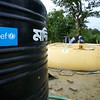 0610-0627<br /> <br /> In the absence of groundwater, a water treatment plant at Teknaf's remote Unchiprang area supplies pure drinking water to Rohingya refugees after sourcing it from a natural stream. The project is funded by UNICEF and implemented by OXFAM. <br /> Photo: UNICEF / b.a.sujaN/Map