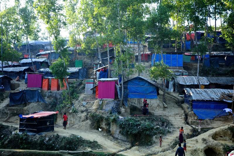 Environment Landscape of Rohingya refugee makeshift settlement in Ukhiya, Cox's bazar, Bangladesh.