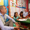 0062-0064<br /> <br /> Mr. Philippe Cori, Deputy Regional Director, UNICEF-ROSA is discussing with the children of The Ability Based Accelerated Learning Center-ABAL.<br /> <br /> Credit: © UNICEF/BANA2016/Sujan