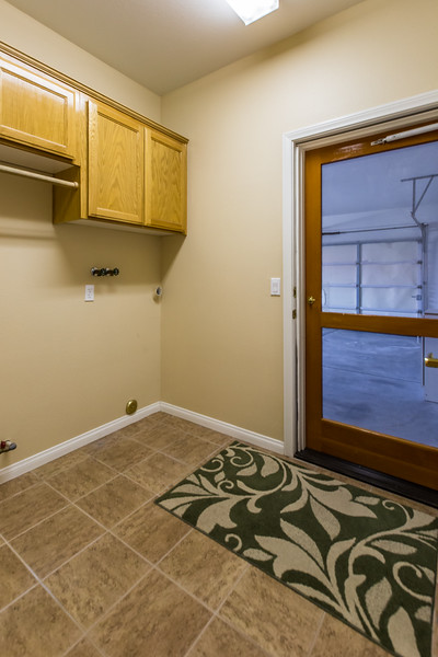 indoor laundry room off garage