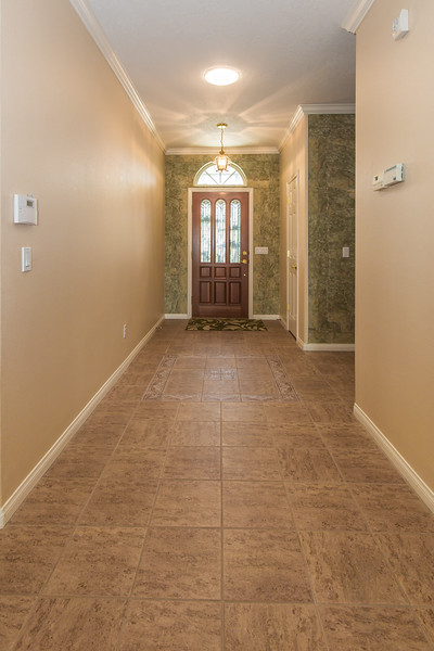 wide halls and tile floors