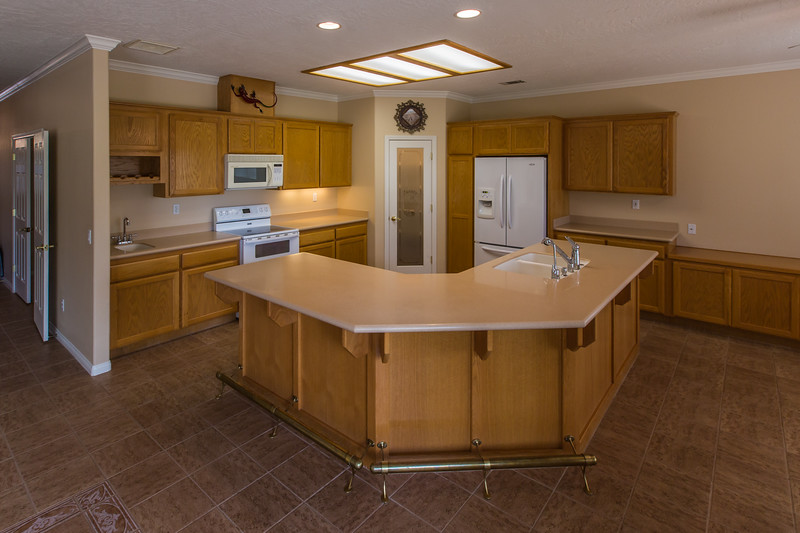kitchen with solid surface counter top