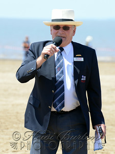 RAF Falcons Commentator, Graham Liggins at Weston-super-Mare Armed Forces Day and Air Show 2014, held on the Beach Lawns