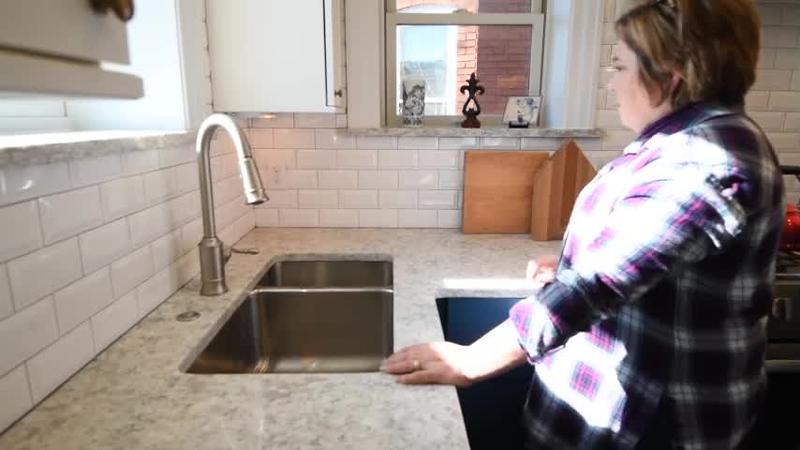 Next Project Studio - Offset Kitchen Sink