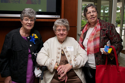Regina Straim Venditto, center, all of the Class of 1957